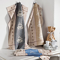 Pack of 3 half linen tea towel