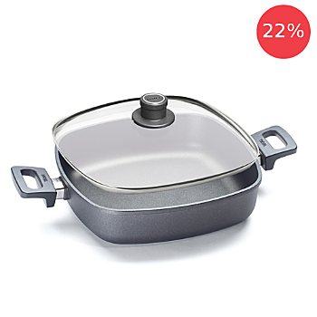 Woll frying pan with glass lid
