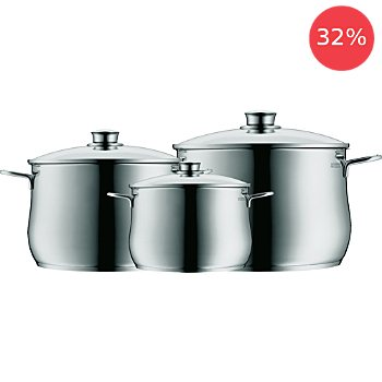 WMF  cooking pot set, 6-parts