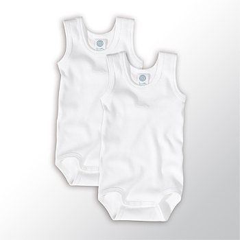 Pack of 2 Sanetta sleeveless bodysuits
