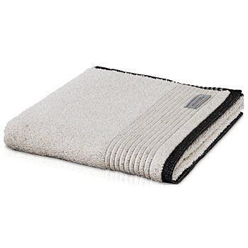 Möve bath towel with piped edging