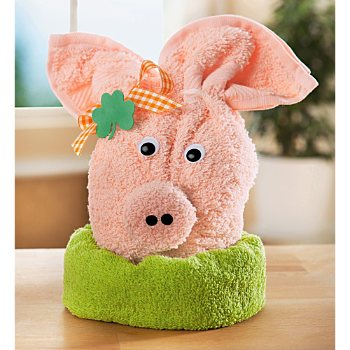 Towel gift set, lucky pig