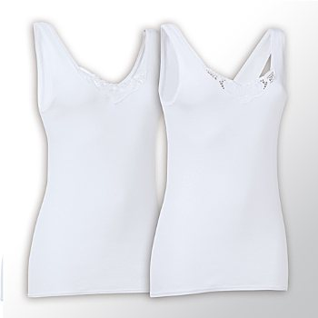 Schiesser 2-pack women's underwear vests
