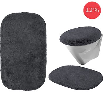 Erwin Müller 3-pc bath mat set without cut-out