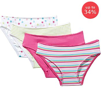 Erwin Müller  4-pack girls briefs
