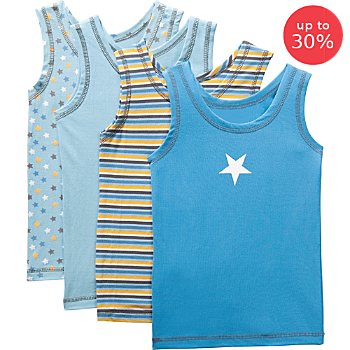 Erwin Müller  4-pack kids underwear vests