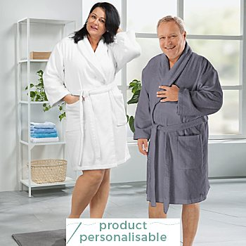 Erwin Müller short sized unisex bathrobe