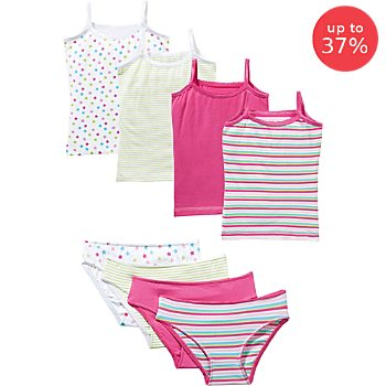 Erwin Müller  8-piece girl's underwear set