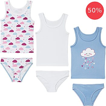 Erwin Müller 6-piece girls underwear set