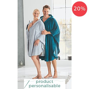 Erwin Müller  hooded poncho, short