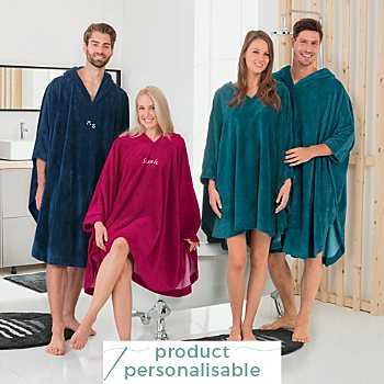Erwin Müller  hooded poncho, long
