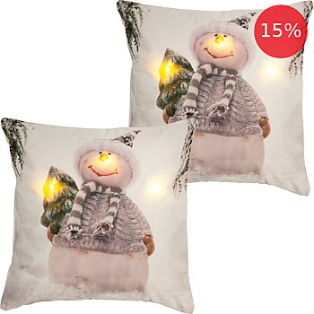 2-pack REDBEST LED cushion covers snowman