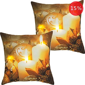 2-pack REDBEST LED cushion covers candles