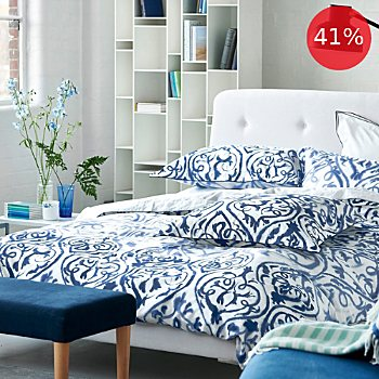 Designers Guild satin duvet cover set