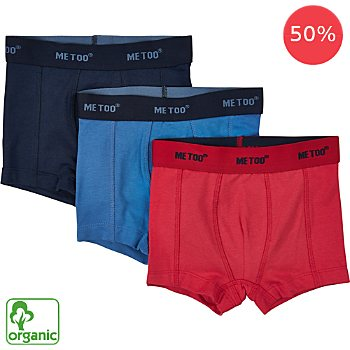 Me Too  3-pack organic cotton boxer shorts