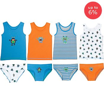 Erwin Müller 8-pc boy´s underwear set