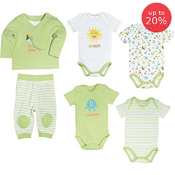 Erwin Müller  6-piece baby clothing set