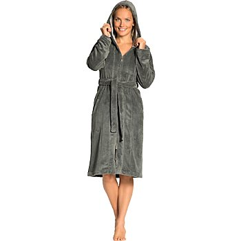 Vossen  women's hooded bathrobe