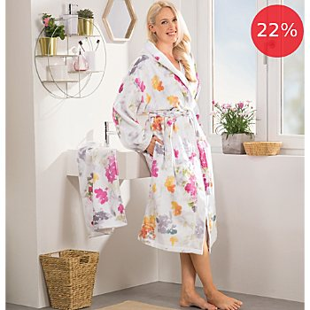 Erwin Müller  women's hooded bathrobe