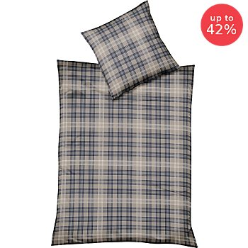 Fleuresse cotton flannelette reversible duvet cover set