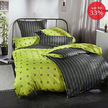 Erwin Müller Egyptian cotton sateen reversible duvet cover set
