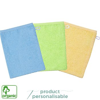 Wörner  3-pack kids organic cotton wash mitts
