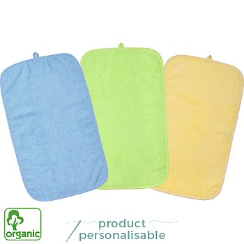 Wörner  3-pack kids organic cotton hand towels
