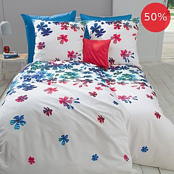 Fleuresse seersucker reversible duvet cover set