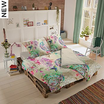 Hip cotton flannelette reversible duvet cover set