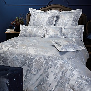 Curt Bauer Egyptian cotton brocade damask reversible duvet cover set