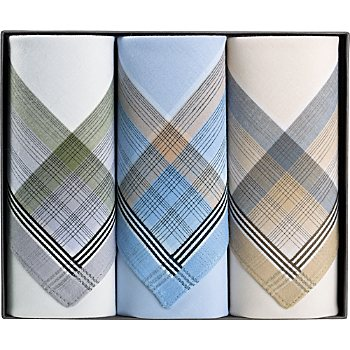 3-pack men´s handkerchiefs