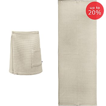 Erwin Müller  men's spa wrap & sunlounger towel set