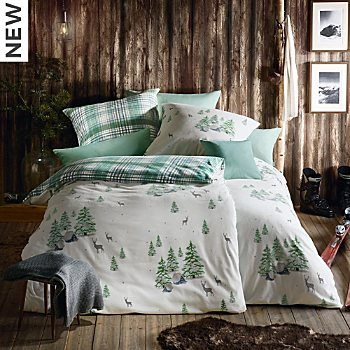 Fleuresse cotton flannel reversible duvet cover set