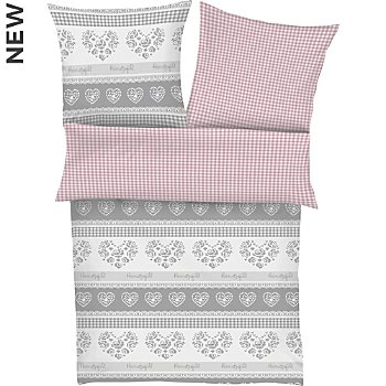 Ibena cotton flannelette reversible duvet cover set
