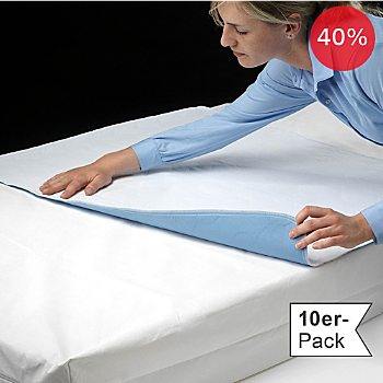 Erwin Müller 10-pack waterproof & boil-proof mattress protectors