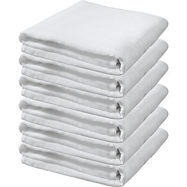 Pack of 6 muslin nappies