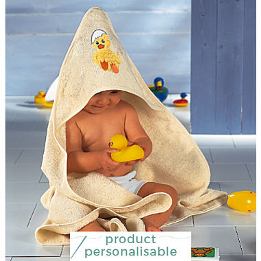 Erwin Müller terry bath towel with hood