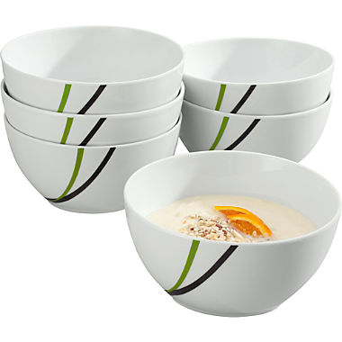 Pack of 6 Gepolana cereal bowls