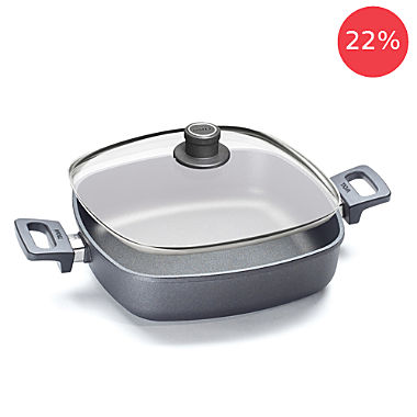 Woll service pan with glass lid