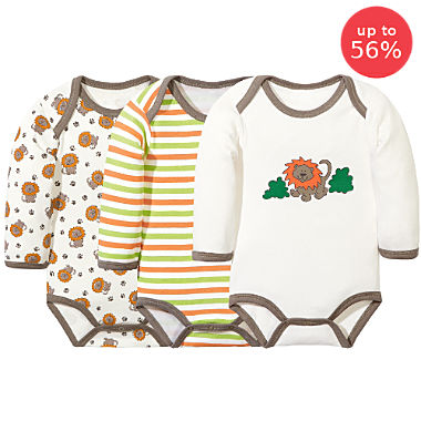 3-pack Erwin Müller long sleeve bodysuits