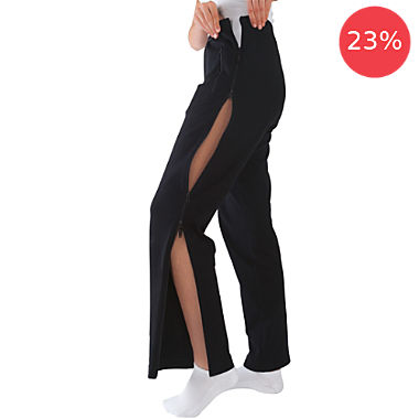Stautz pants with side zippers for women
