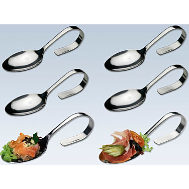 Pack of 6 fingerfood spoons