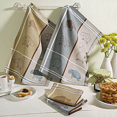 Pack of 2 terry tea towels