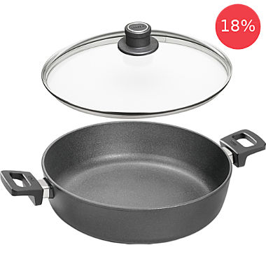 Woll induction casserole with glass lid