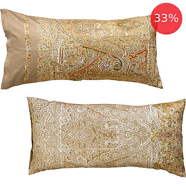 Bassetti cotton sateen pillowcase,