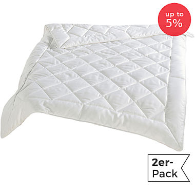 Pack of 2 Erwin Müller wild silk duvets