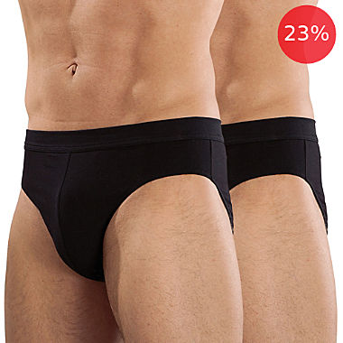 Pack of 2 RM-Kollektion fine rib briefs