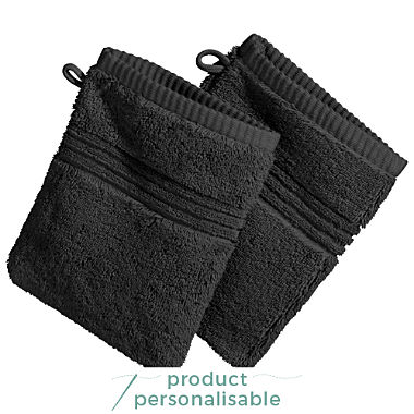 Pack of 2 Erwin Müller full terry wash mitts, Konstanz