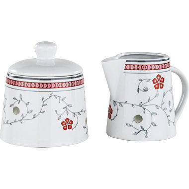 Gepolana sugar jar and milk jug