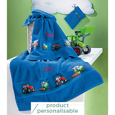 Erwin Müller kids 3-piece towel set incl. free name embroidery on hand towel & bath towel